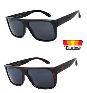 Retro Square Frame Sunglasses Mens Womens Flat Top Square POLARIZED Lens