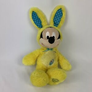 Disney-Store-Mickey-Mouse-Yellow-Easter-Bunny-Outfit-Rabbit-Plush-Stuffed-Animal