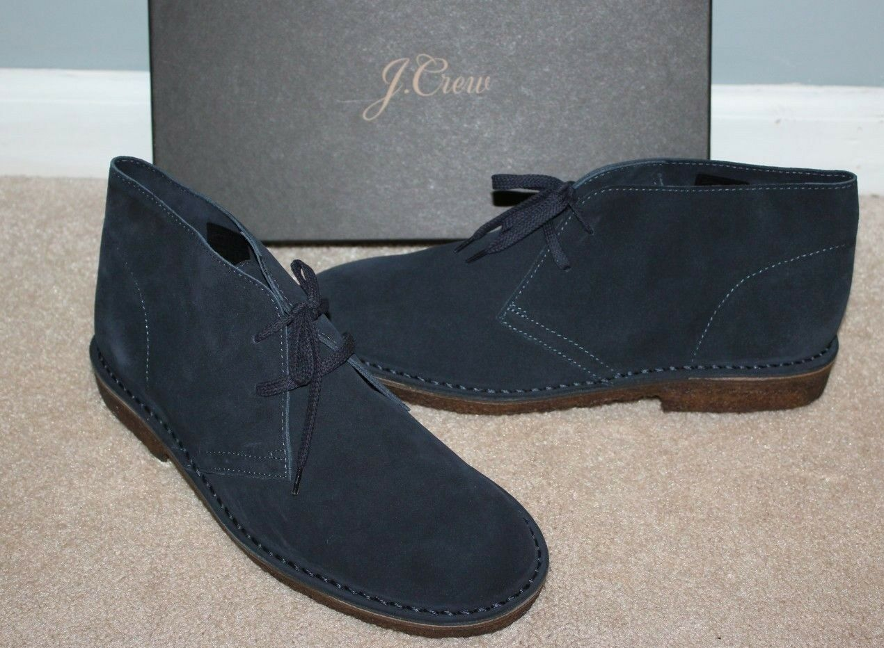 NEW J CREW Classic Suede MacAlister Boots Sz 12 Navy bluee 79438  148
