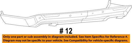 Dodge CHRYSLER OEM 15-18 Challenger Rear Bumper-Lower Cover 68260010AC