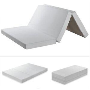 4 Inch Tri Folding Portable Memory Foam Mattress Topper ...