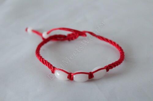 Nature Jade Stone Bead Good Luck Adjustable Bracelet Feng Shui Protection