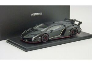1 43 Kyosho Lamborghini Veneno Matt Black Red Line