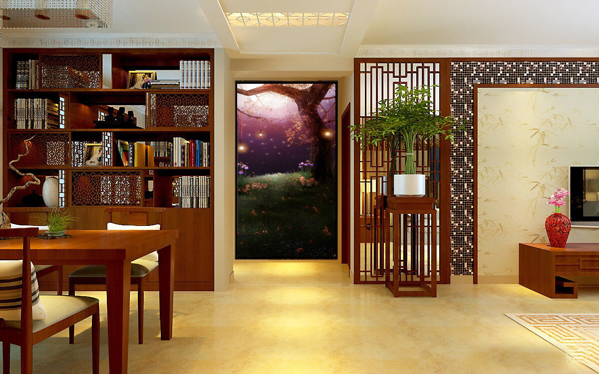 3D Anime Tree 405 Wallpaper Murals Wall Print Wall Mural AJ WALL AU Summer