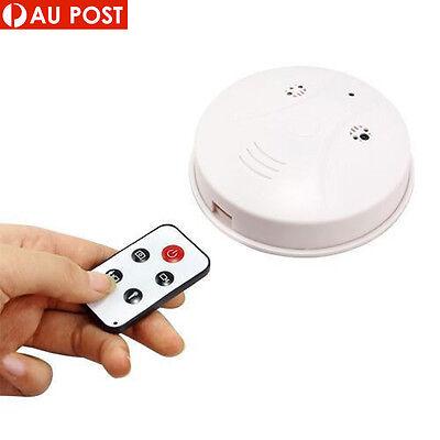 HD Cam Remote Smoke Detector Security DVR Pinhole Camera Motion Detection Nanny