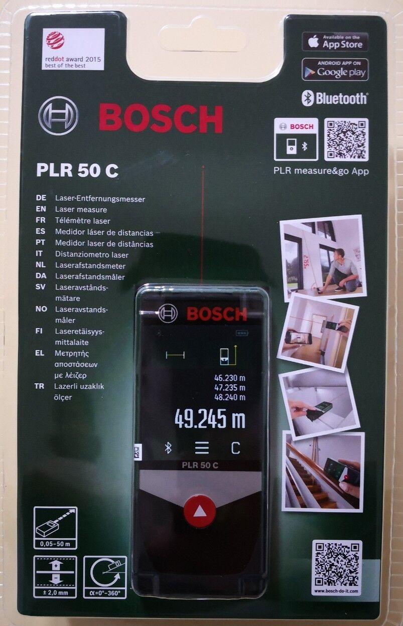 BOSCH PLR 50C Digitaler Laser-Entfernungsmesser NEU&OVP