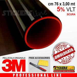 Pellicola-Oscuramento-Vetri-Auto-Black-Shade-3M-BS-5-omologata-cm-76-x-3-00-mt