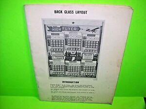 Bally-HIGH-FLYER-1977-Original-Bingo-Arcade-Game-Pinball-Machine-Service-Manual