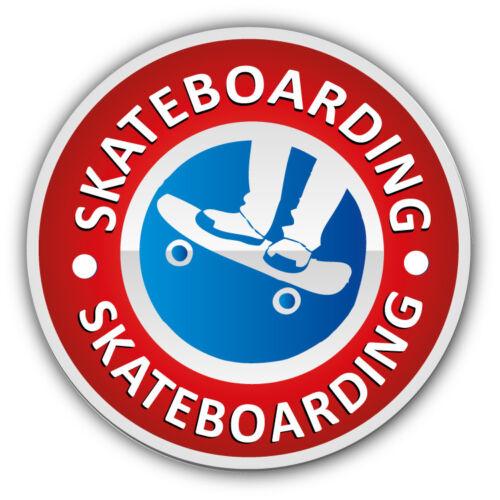 3/'/' or 5/'/' Skateboarding Sport Label Car Bumper Sticker Decal
