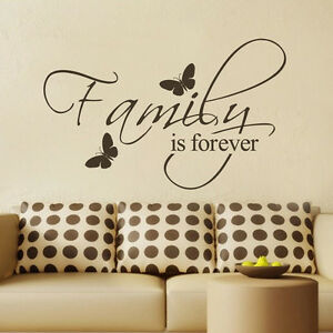 Details About Inspirational Wall Decal Family Is Forever Quote Vinyl
