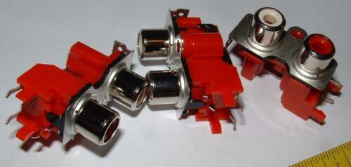 10 X Phono Enchufes Jalco PKB1023-A YKC21-3226 doble