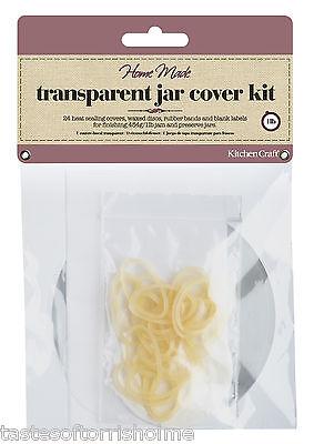Kitchen Craft 1 livre la fabrication des confitures jar couvre disques de cire étiquettes etc x 24 pots Kit