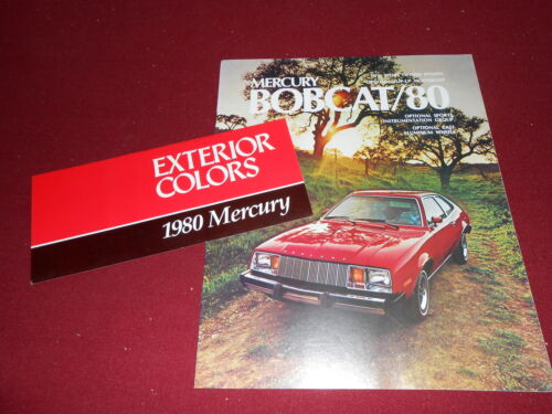 1980 MERCURY BOBCAT LARGE BROCHURE 80 PAINT COLOR CHIPS FOLDER CATALOG ORIG