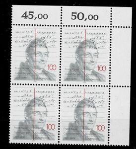 Franc Bund Brd Minr 1423 Cachet ** Groupe Bloc Coin 2-afficher Le Titre D'origine Produits De Qualité Selon La Qualité