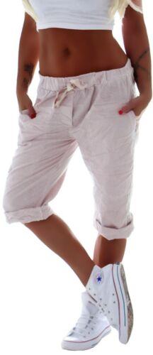 Damen Capri Hose Bermuda Boyfriend Shorts Jogpants Harems Kurz Sommer C165