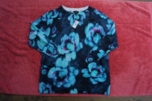 Nwt Lana Maglione Donna Sz Merino 109 X Floral Talbots Girocollo 100 Acquerello UAx54nt6wq