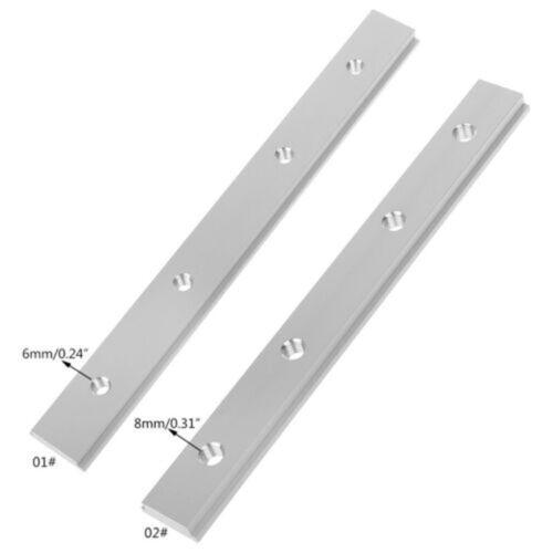 M6/M8 T-Schlitz Track Slider Silber Aluminiumlegierung Holzbearbeitung