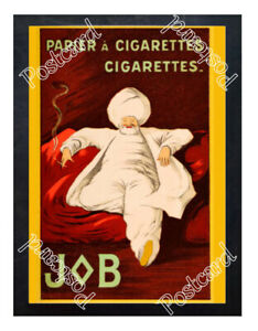 Historic-Job-cigarettes-1900s-Advertising-Postcard