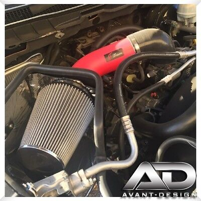 5.7 V8 Cold Air Intake Kit Heat Shield Filter for 09-15 Ram 1500//2500//3500 Red