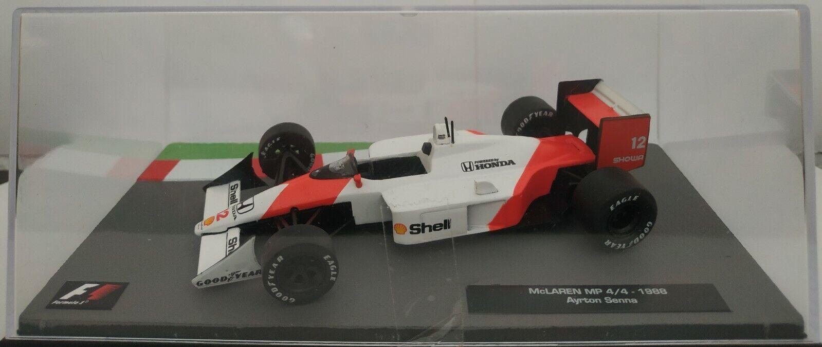 1 43 mclaren mp 4 4 mp4 1988  ayrton senna f1 Formula 1 IXO Altaya Diecast scale  les clients d'abord la réputation d'abord