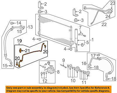 HONDA OEM 09-13 Fit A//C AC Condenser//Compressor//Line-Front Ac Line 80341TF0G01