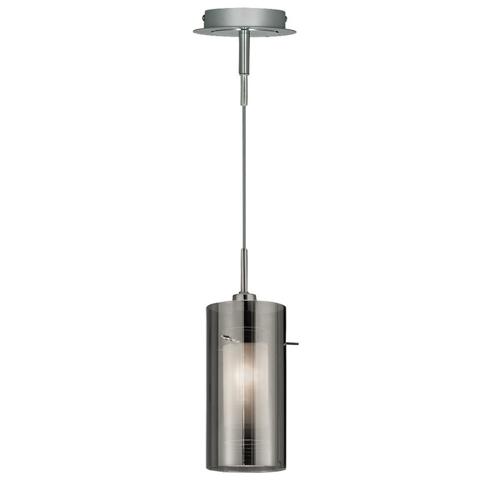 Searchlight Smokey Outer Clear Inner Ceiling Fitting Pendant Chandelier Light