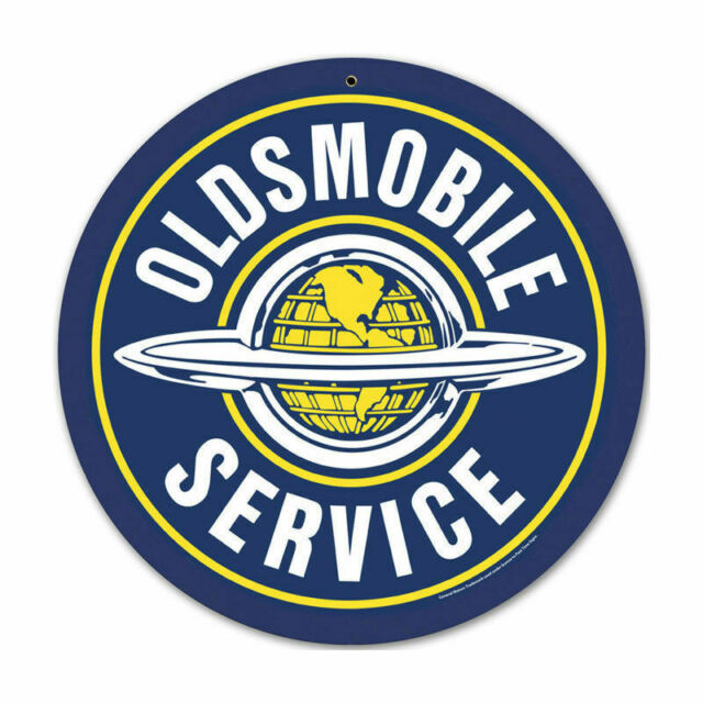 Oldsmobile service metal sign beautiful round