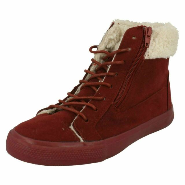 Girls Spot On High Top Suedette Ankle Boots Great Price H4102