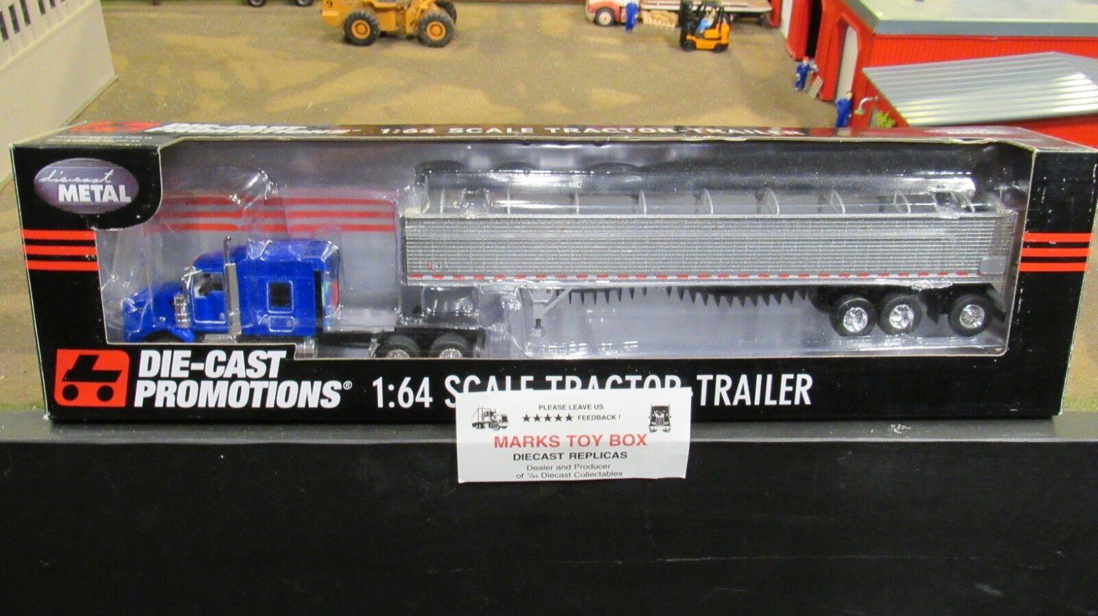 DCP 33605 OWNER OPERATOR KW T800 SEMI CAB TRUCK & WILSON GRAIN TRAILER 1 64 CL