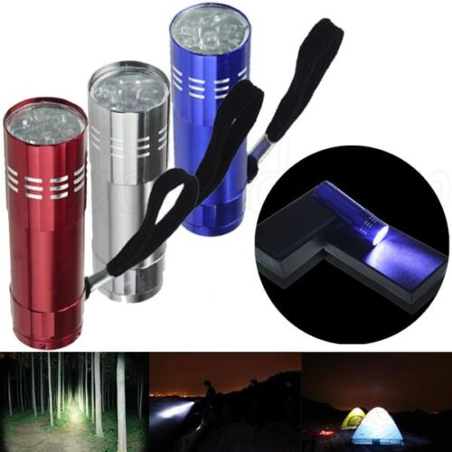 9 ULTRA BRIGHT LED POWERFUL CAMPING TORCH FLASHLIGHT LAMP LIGHTS MINI ADJUSTABLE