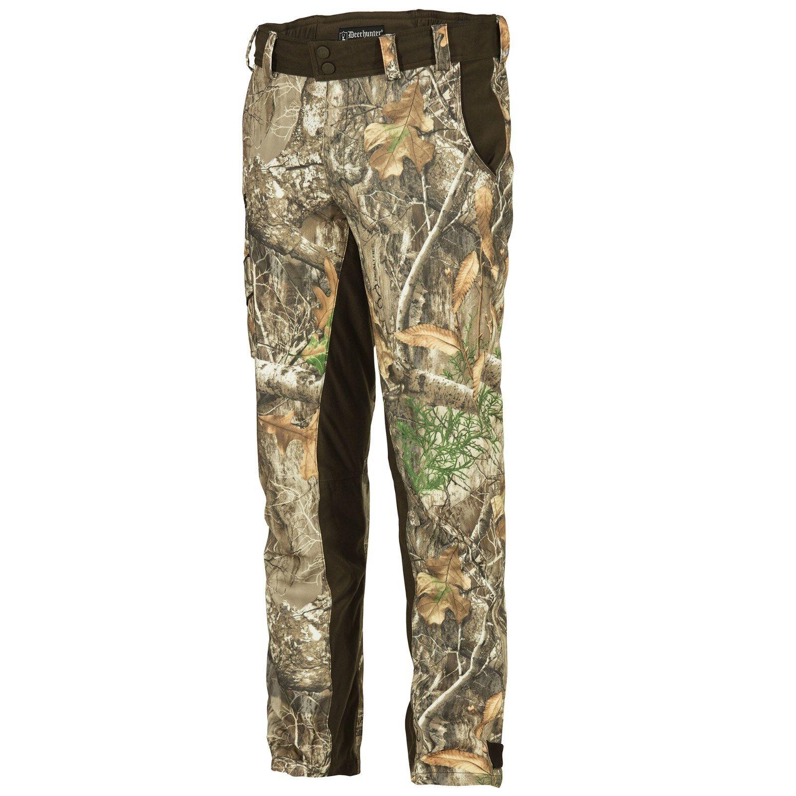 Deerhunter 3830 muflon light pantalones, ligeros pantalones de caza 46-Realtree Edge camo, 48-64