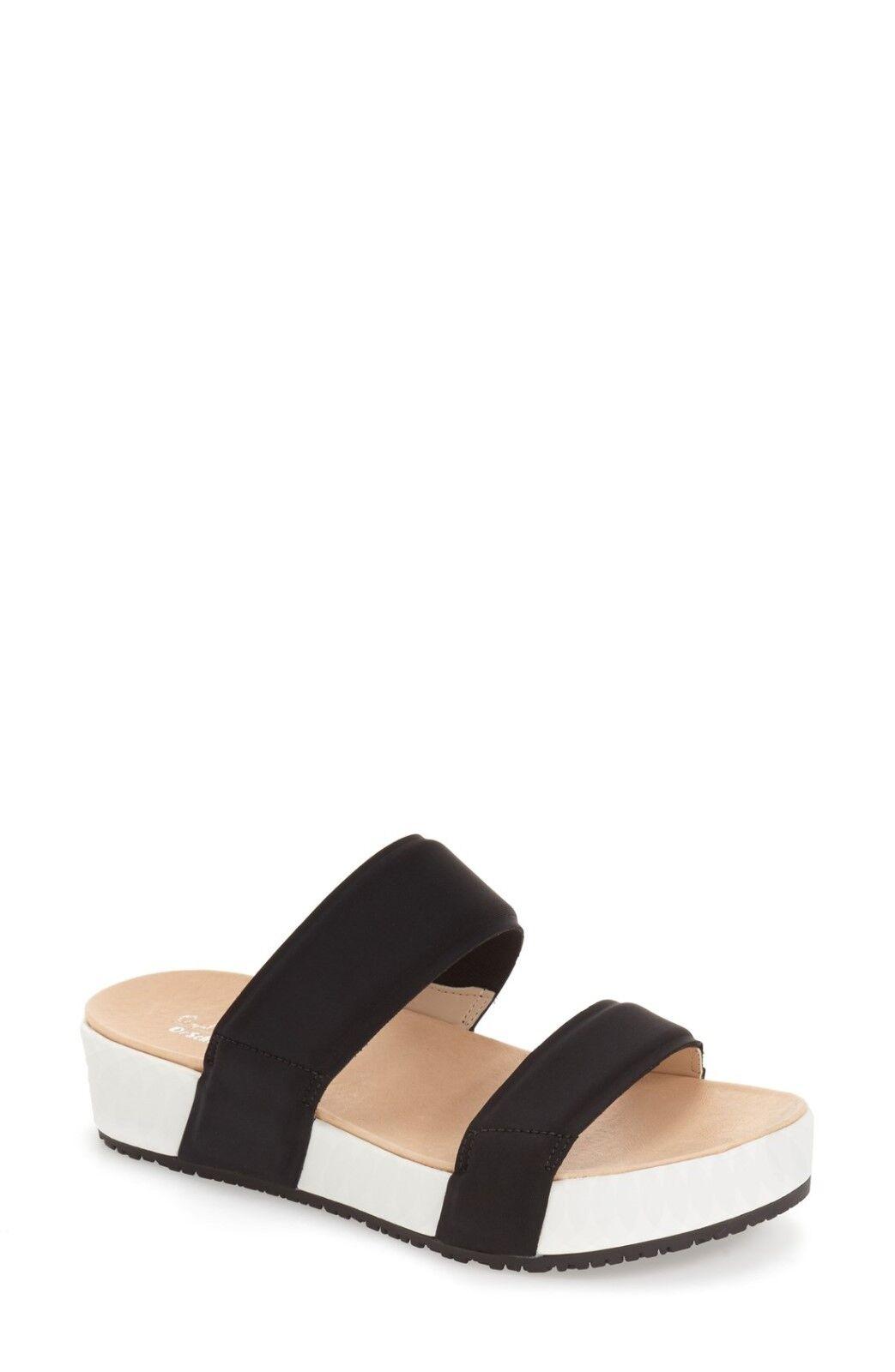 Athleta Frazzle Black Sandal by Dr. Scholl's, Black Frazzle Neoprene/White SIZE 8 39e22c