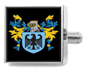 Minshall England Heraldik Wappen Sterling Silber Manschettenknöpfe Graviert Senility VerzöGern