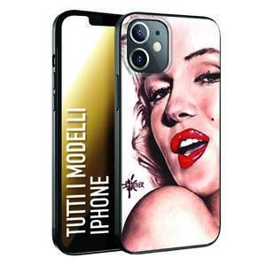Dettagli su Custodia Cover Morbida nera INKOVER per iPhone Marilyn Monroe donna statua rossa