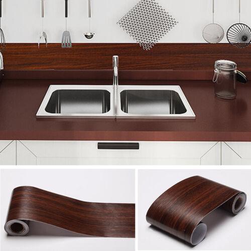 5m Wood Grain Stick On Floor Wall Tile Stickers Self Adhesive Kitchen Bathroom