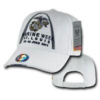 White Marine Week St. Louis 2011 Marines Us Army Baseball Ball Cap Caps Hat Hats