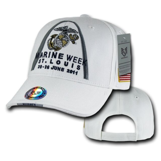 White Marine Week St. Louis 2011 Marines US Army Baseball Ball Cap Caps Hat Hats
