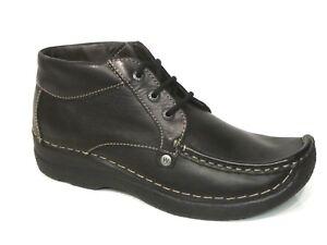 schwarz Leder Range Seamy Schuhe Stiefel Wolky Boots Stiefeletten CEBWrxoeQd