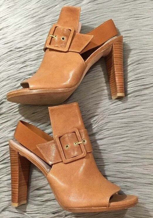 Stuart Weitzman Tan Brown Sunbelt shoes Boot Bootie shoes Size 8.5M w  Box