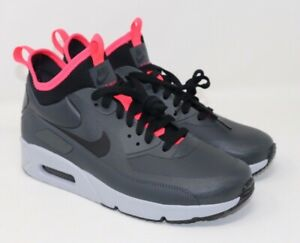 Nike Air Max 90 Ultra Mid Winter Anthracite Black Solar Red 924458 003 Size 8