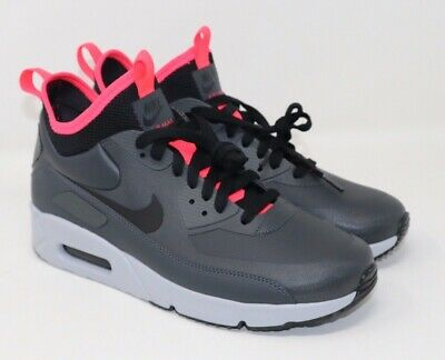 Nike Air Max 90 Ultra Mid Winter Anthracite Black Solar Red 924458 003 Size 8 | eBay