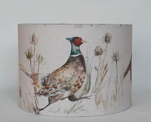 NEW Voyage BOWMONT PHEASANT fabric wildlife country bird thistle drum lampshade