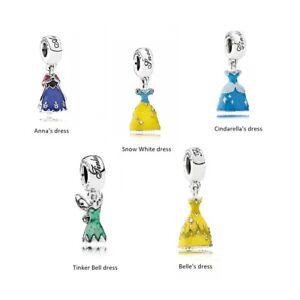Details about New Authentic Silver Sterling Pandora Disney Princess Dress  Dangle Charm AL925