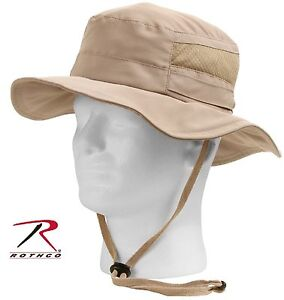 Image is loading Rothco-Lightweight-Mesh-Boonie-Hat-Khaki-Adjustable-Summer- 3902d37da40