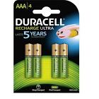 Duracell DURAAA800R2U AAA 800mAh NiMH Rechargeable Batteries - Pack of 4