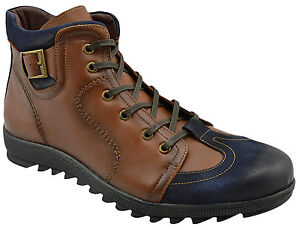 230-ovatto-Brown-bleu-mi-mollet-en-daim-bottines-en-cuir-hommes-chaussures-nouvelle-collection