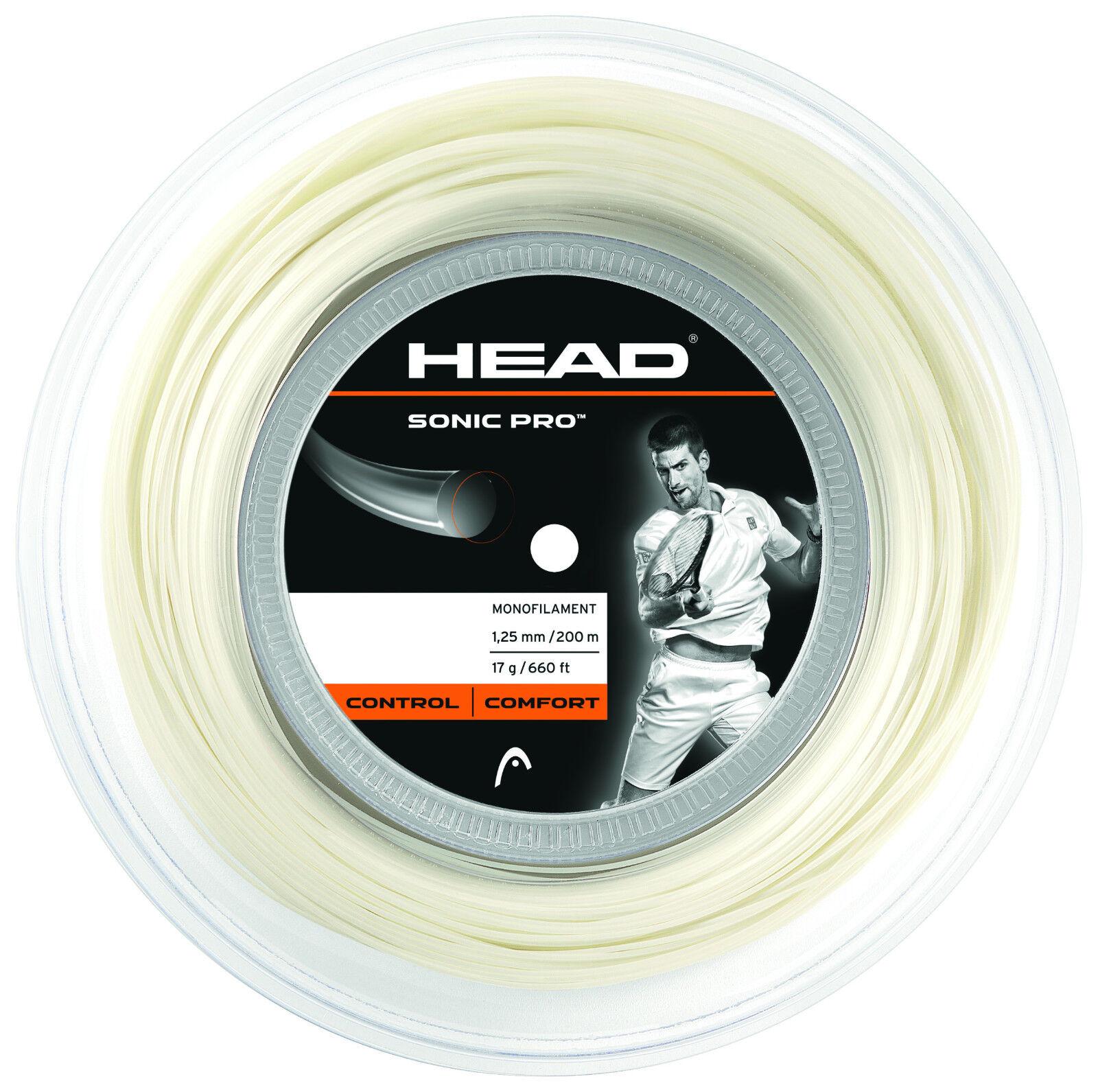 Head Sonic Pro 16 White 200 m Tennissaiten