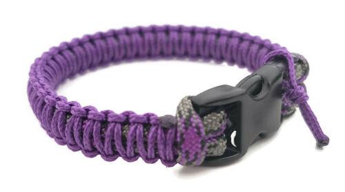 Paracord Bracelet 550 mystique//acide Violet Micro cordon U.S vendeur-Handmade