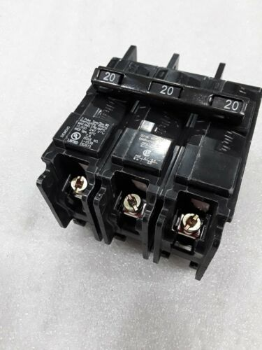 BQ3B020 SIEMENS 3 POLE 20A 240VAC 10KA UL CIRCUIT BREAKER NEW