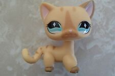 Littlest Pet Shop RARE Short Hair Cat #886 Cream Diamond Stripe Standing LPS